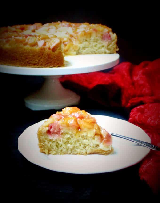 Apple And Rhubarb Upside Down Cake