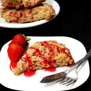 Vegan Strawberry Scones with Rosewater