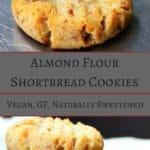 Vegan Almond Flour Shortbread Cookies, naturally sweetened and gluten free - holycowvegan.net