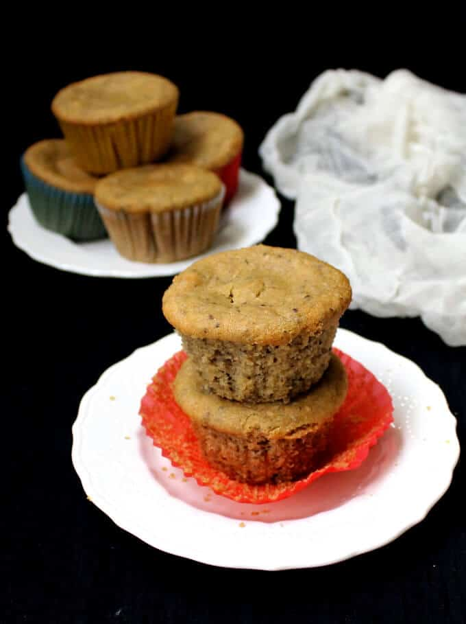 Almond Flour Chia Seed Muffins - holycowvegan.net