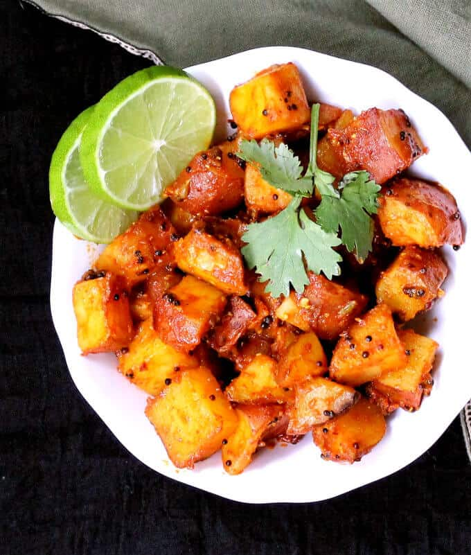 Masala Potatoes, 30-minute recipe, vegan, soy-free, nut-free and gluten-free - holycowvegan.net