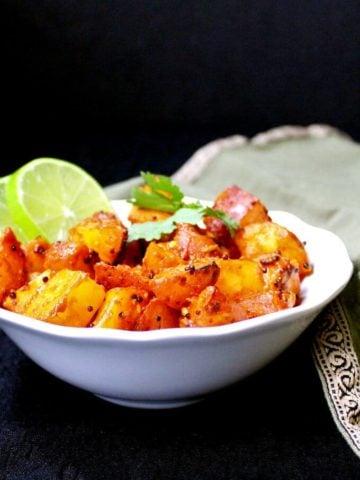 Masala Potatoes, 30-minute recipe, vegan, soy-free, nut-free and gluten-free - holycowvegan.net
