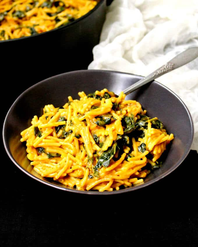 One Pot Curried Spaghetti with Kale (30-minute recipe)