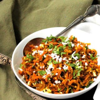 Golden Beet Carrot Slaw, Indian style (15 minutes)