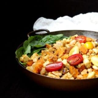 Curried Tempeh Quinoa Breakfast Hash