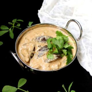 Eggplant in peanut curry sauce, glutenfree, vegan - holycowvegan.net