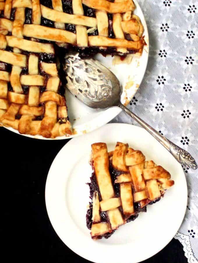 Vegan Cherry Pie - holycowvegan.net