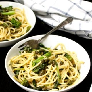 Vegan Garlicky Pasta with Broccoli Rabe