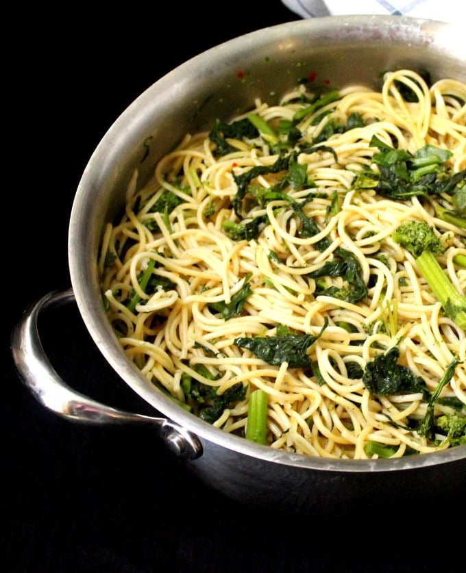 Vegan Garlicky Pasta with Broccoli Rabe - HolyCowVegan.net