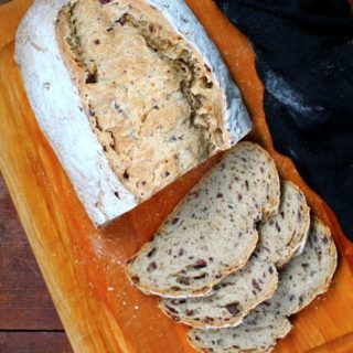 Sourdough Olive and Sage Loaf - HolyCowVegan.net