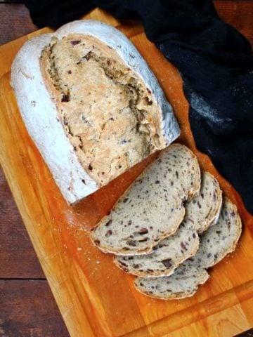 Sourdough Olive and Sage Loaf - HolyCowVegan.net