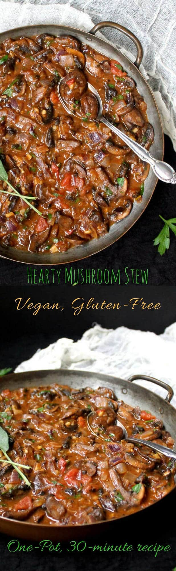 Hearty Vegan Mushroom Stew, 30-minute recipe - HolyCowVegan.net