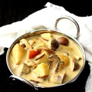 Instant Pot Mushroom Potato Korma