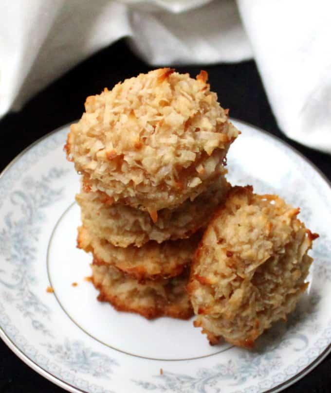 Vegan Coconut Almond Macaroons, gluten-free - HolyCowVegan.net