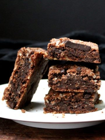 Chocolate Coconut Cookie Bars, vegan, gluten-free - holycowvegan.net