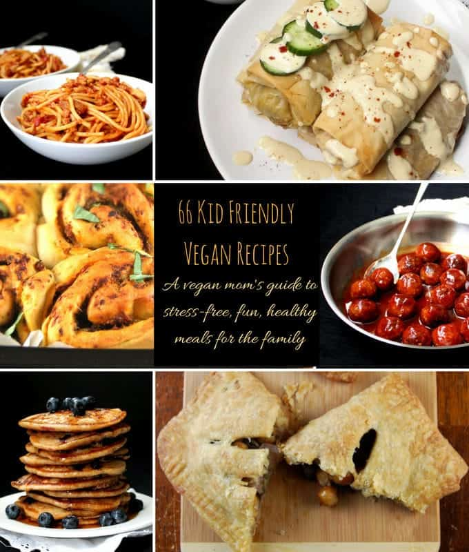 66 Kid Friendly Vegan Recipes. A Vegan Mom's Guide To
