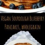 Vegan Sourdough Blueberry Pancakes - HolyCowVegan.net