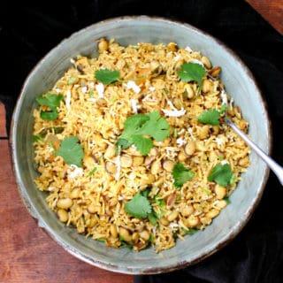 Hyacinth Beans Masala Rice Pilaf