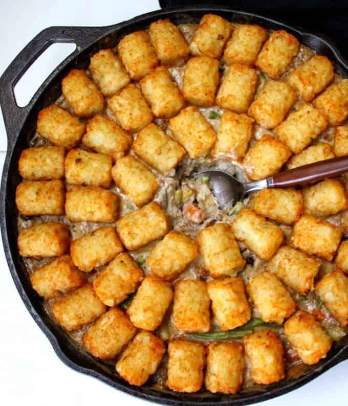 One-Pot Vegan Tater Tot Casserole - HolyCowVegan.net