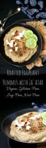 Roasted Eggplant Hummus with Za'atar Spice Mix - HolyCowVegan.net