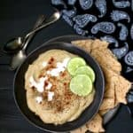 Rpasted Eggplant Hummus with Za'atar Spice Mix - HolyCowVegan.net