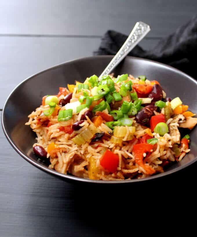 Photo of Vegan Jambalaya, a colorful, healthy, one-pot meal - HolyCowVegan.net