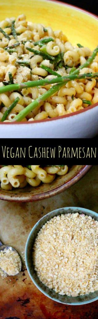 Vegan Cashew Parmesan #vegan #glutenfree #vegancheese #pasta. HolyCowVegan.net