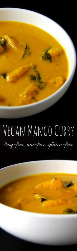 Vegan Mango Curry #vegan #soyfree #curry #indian #mango HolyCowVegan.net