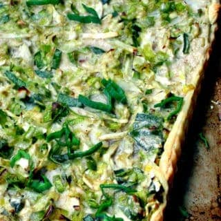 Vegan Cabbage, Leek and Potato Tart