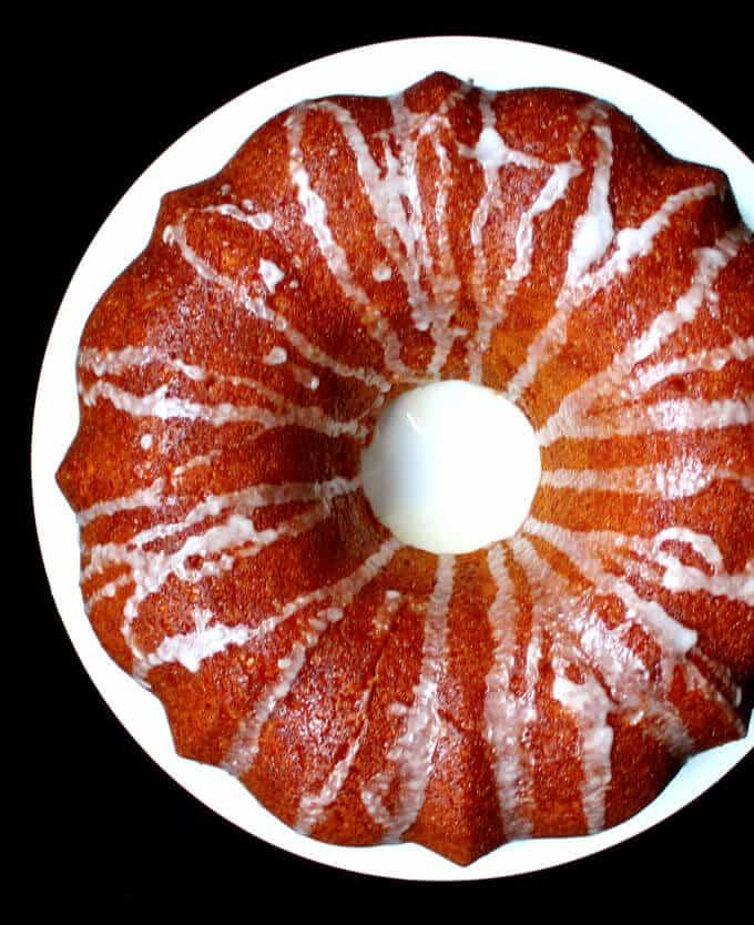 Vegan Lemon Yogurt Bundt Cake #vegan #cake #lemon #vegandessert HolyCowVegan.net