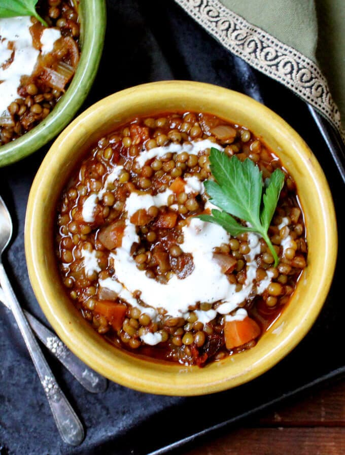Creamy lentils with ancho #vegan #glutenfree #soyfree #lentils - HolyCowVegan.net