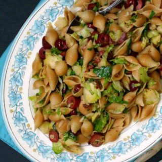 Speedy Brussels Sprouts Pasta with Olives