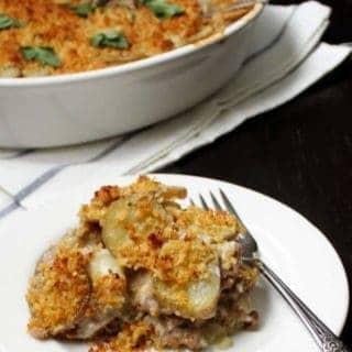 Vegan Artichoke Potato Gratin