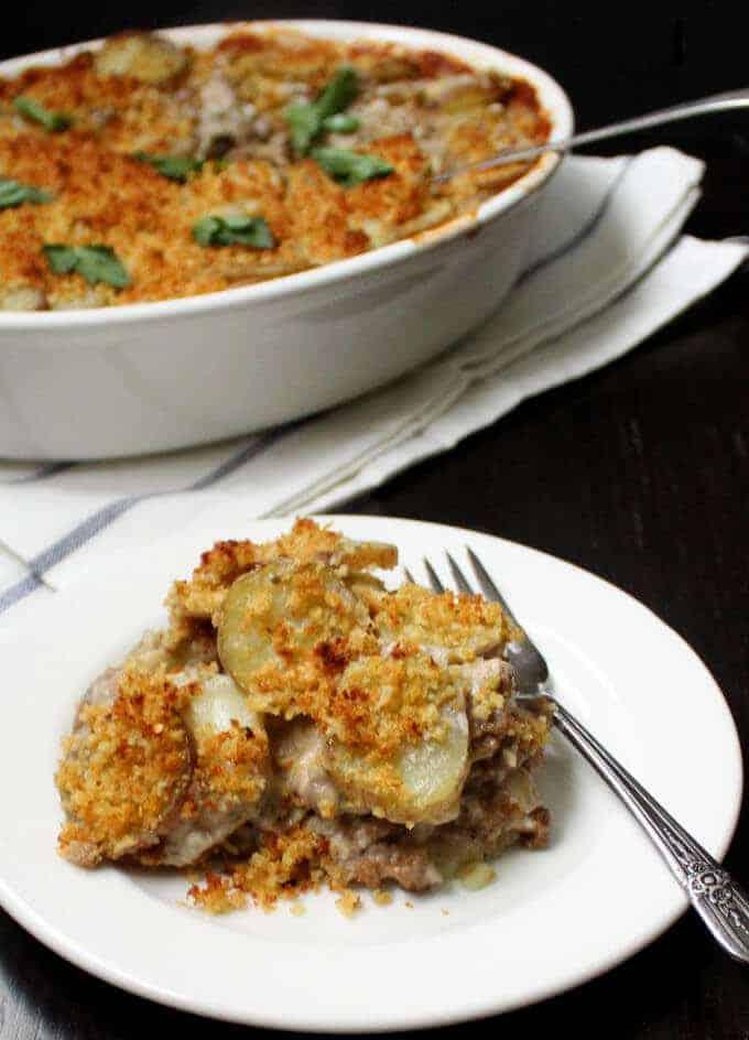 Vegan Artichoke Potato Gratin #vegan #breakfast #brunch #mothersday HolyCowVegan.net