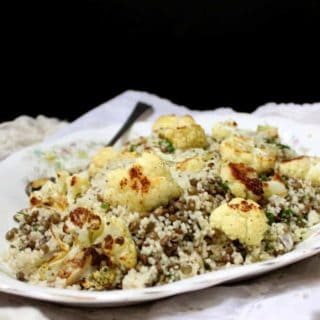 Roasted Cauliflower Couscous with Lentils and Mint