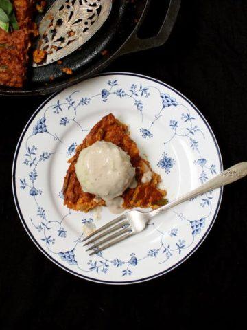 Vegan Chorizo Breakfast Quiche #vegan #onepot #quiche #glutenfree HolyCowVegan.net