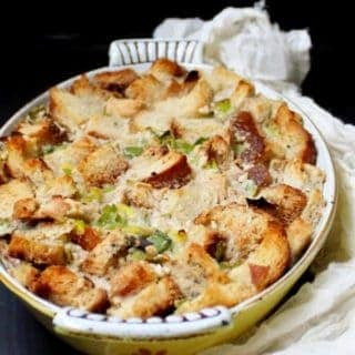 Savory Leek Sourdough Bread Pudding: Breakfast for Dinner