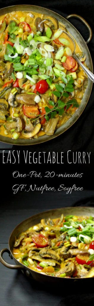 Best 20-minute Vegetable Curry with Coconut Milk #vegan #glutenfree #nutfree #soyfree #curry #Indianfood HolyCowVegan.net