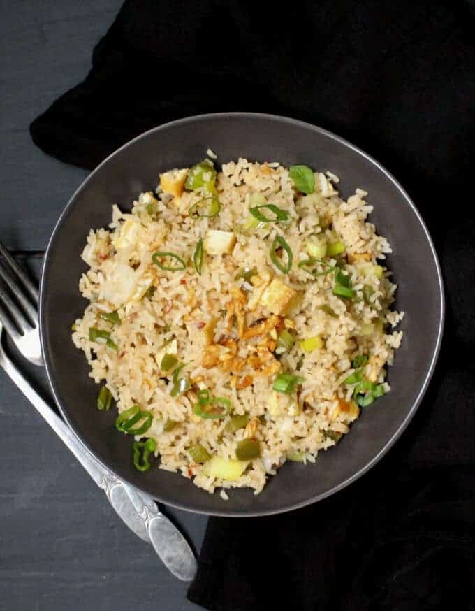 Indo Chinese Garlic Fried Rice