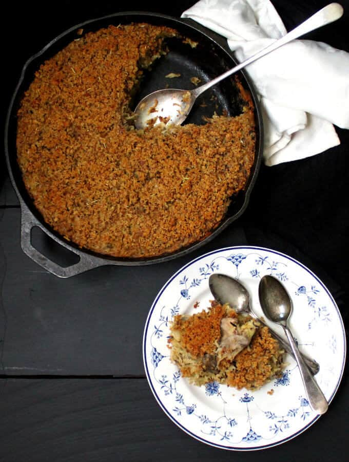 Vegan Mushroom Rice Casserole #vegan #glutenfree #soyfree #casserole #vegancasserole #onepot HolyCowVegan.net
