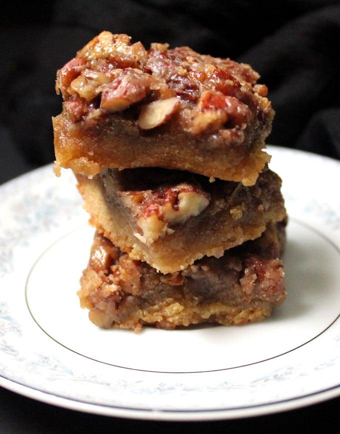 Vegan Pecan Pie Bars, gluten-free