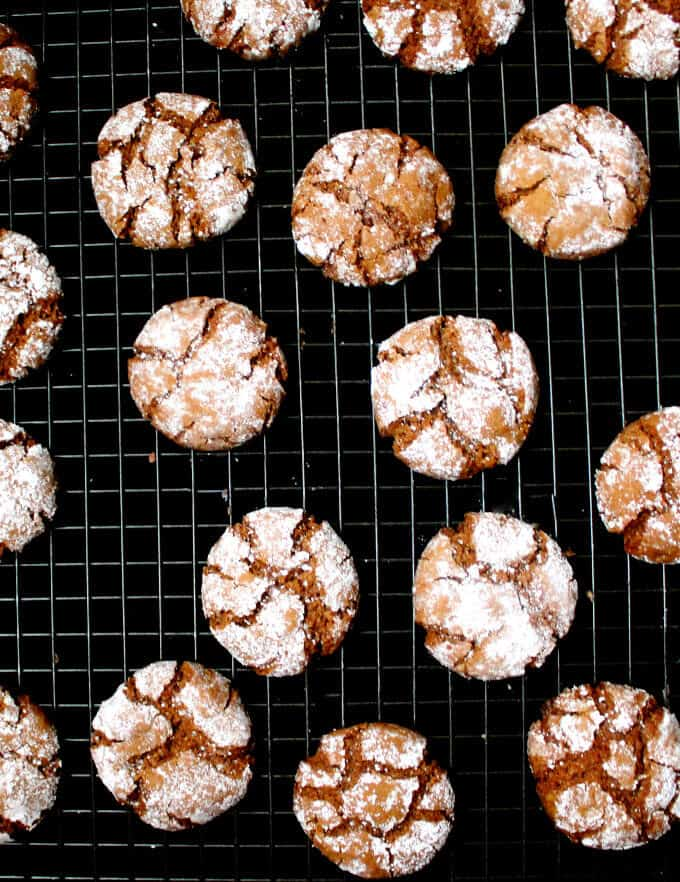 These vegan gingersnap cookies are crispy on the outside and soft and chewy inside. They're made with whole wheat and are practically guilt-free, but they're also mindblowingly delicious. #vegan, #soyfree, #nutfree, #cookies, #recipe HolyCowVegan.net