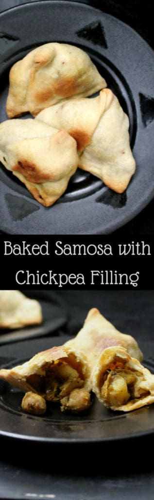 Baked Samosa with Spicy Chickpea Filling - HolyCowVegan.net