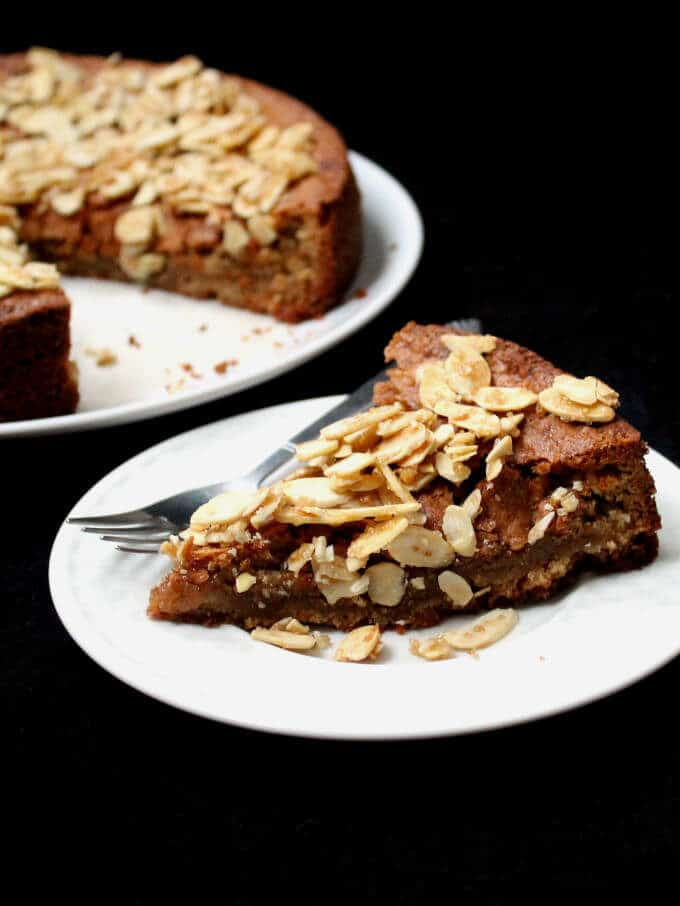 Citrusy vegan and gluten-free Almond Cake - HolyCowVegan.net