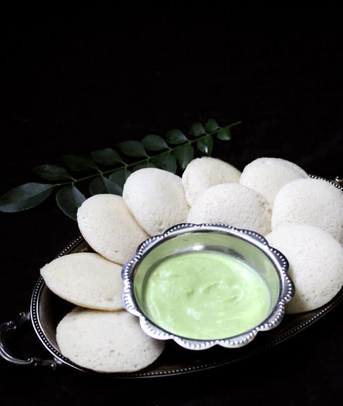 How to make soft and fluffy Idli, a healthy, gut-friendly food from south India, with detailed instructions. #vegan #glutenfree #nutfree #soyfree #indian #southindian #healthy #recipes #rice #lentils HolyCowVegan.net