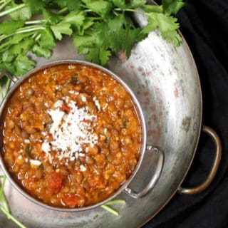 A 10-minute vegan dal that's delicious, nutritious and oh so easy. #soyfree, #glutenfree, #indian, #vegan HolyCowVegan.net