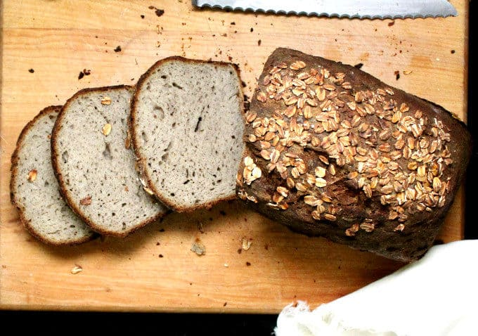 Gluten Free Sourdough Multigrain Sandwich Bread. #Glutenfree, #bread, #sandwichbread, #vegan