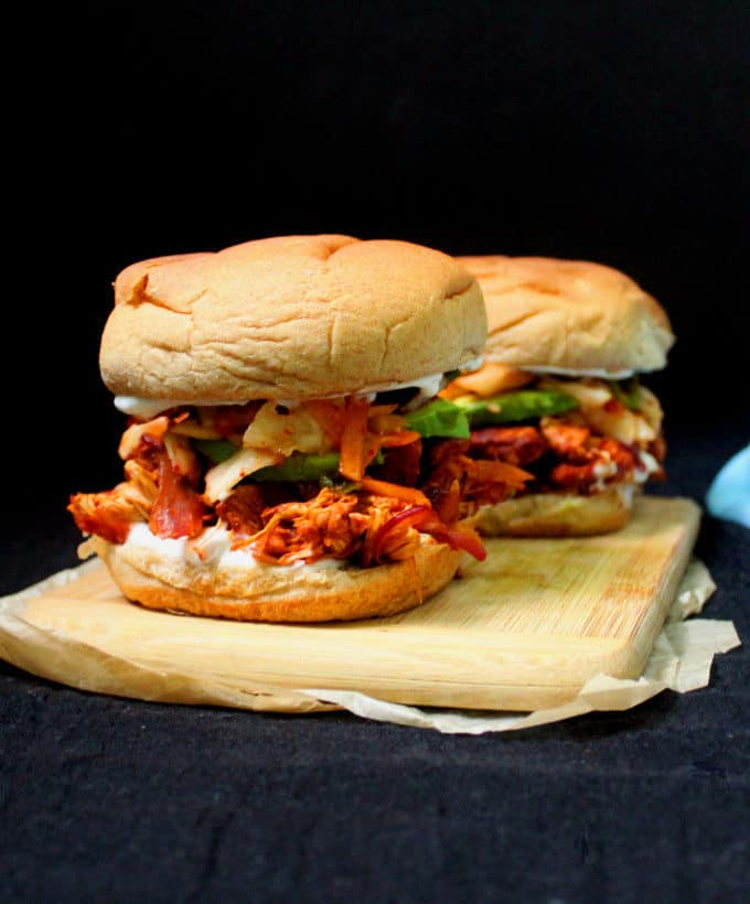 Curried Jackfruit Burger