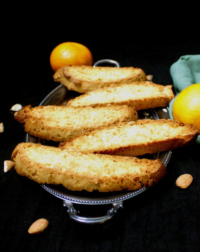 Vegan Orange Almond Biscotti