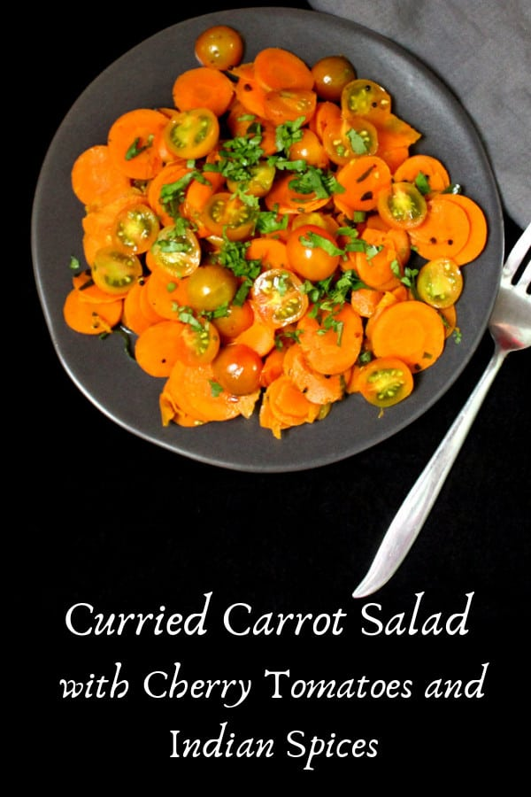 Curried Carrot Salad with Cherry Tomatoes and Indian Spices